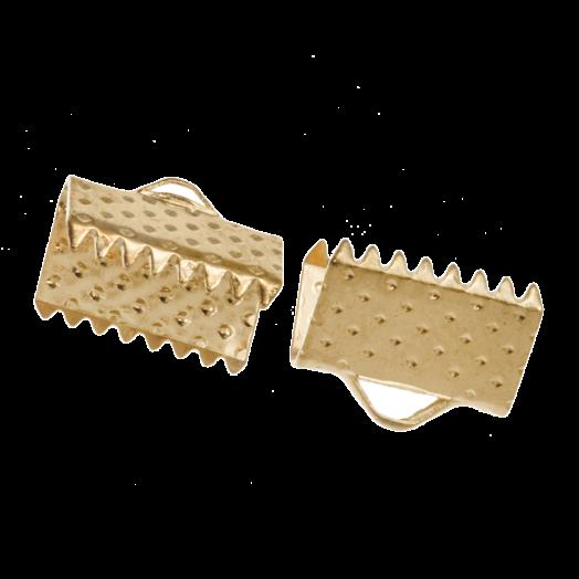 Bandklemme (10 mm) Gold (20 Stück)