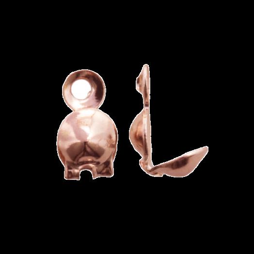 Quetschkalotte (4 mm) Rose Gold (25 Stück)