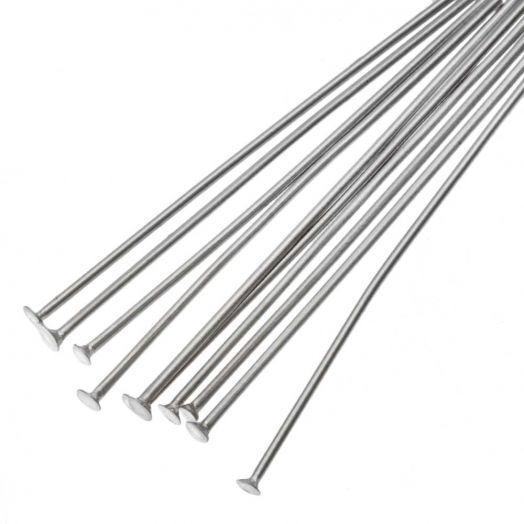 Stainless Steel Nietstifte (35 mm) Altsilber (100 Stück)