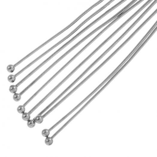 Stainless Steel Nietstifte (40 mm) Altsilber (50 Stück)