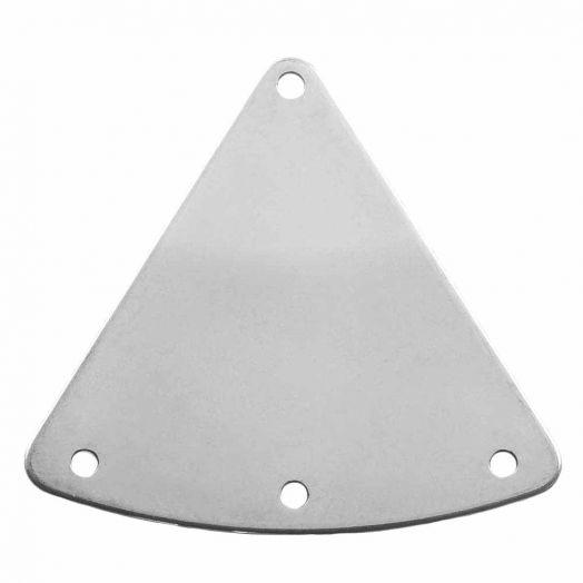 Stainless Steel Zwischenstück 2 Öse (30 x 27 mm) Altsilber (10 Stück)