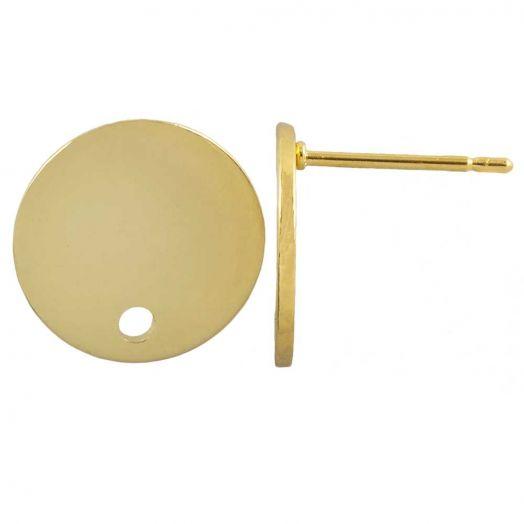 Stainless Steel Ohrstecker (12 x 11 mm) Gold (6 Stück)