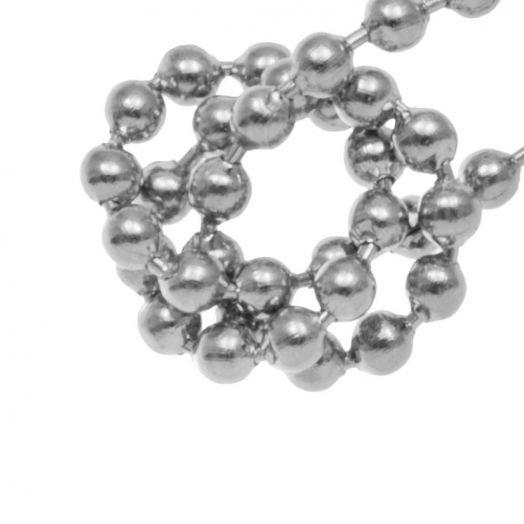 Stainless Steel Kugelkette (2 mm) Altsilber (1 Meter)