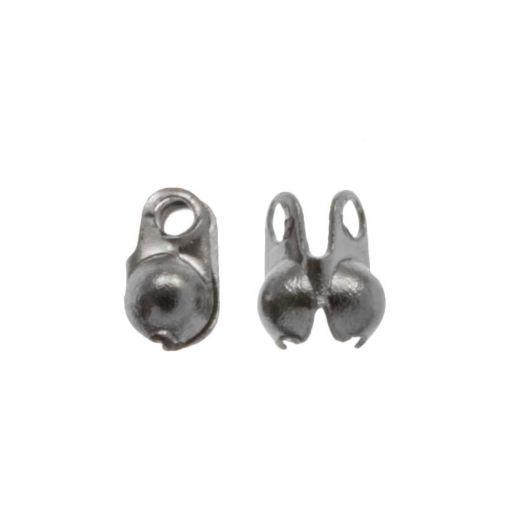 Stainless Steel Kugelkette Verschluss (1.5 mm) Altsilber (25 Stück)