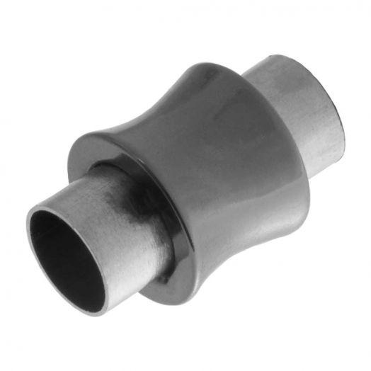 Stainless Steel Magnetverschluss (Innenmaß 6 mm) Gunmetal (1 Stück)