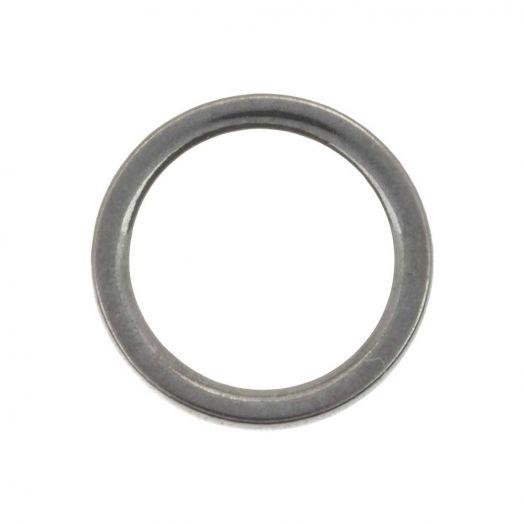 Stainless Steel Geschlossener Ringe (10 mm,Innenmaß 8 mm) Altilber (20 Stück)
