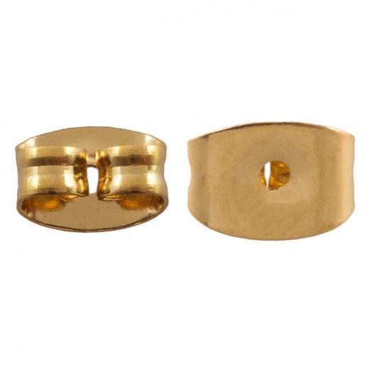 Stainless Steel Ohrstecker Stopper (Gold) 6 Stück