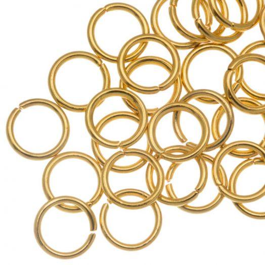 Stainless Steel Biegeringe (6 x 0.8 mm) Gold (50 Stück)