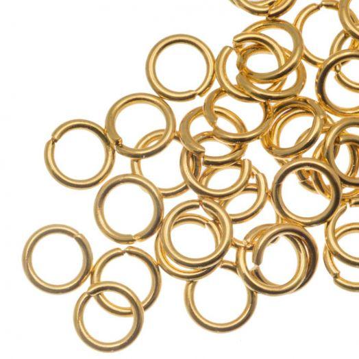 Stainless Steel Biegeringe (5 x 0.8 mm) Gold (50 Stück)