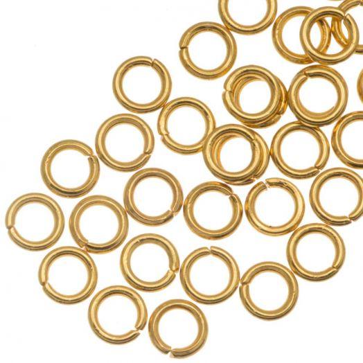 Stainless Steel Biegeringe (4 x 0.8 mm) Gold (50 Stück)