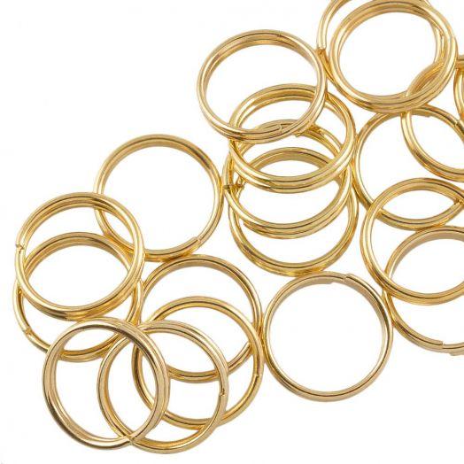 Stainless Steel Spaltringe (10 x 1.6 mm) Gold (25 Stück)