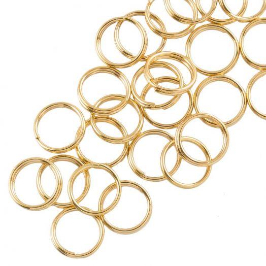 Stainless Steel Spaltringe (8 x 1.3 mm) Gold (25 Stück)