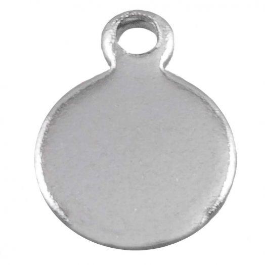 Stainless Steel Charms (9 x 7 mm) Altsilber (50 Stück)