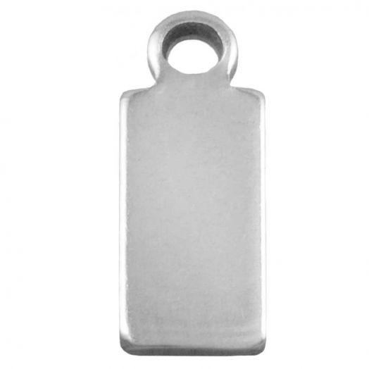 Stainless Steel Charm (10 x 4 mm) Altsilber (100 Stück)