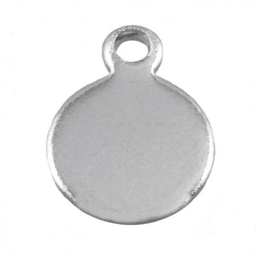 Stainless Steel Charms (7 x 5 mm) Altsilber (100 Stück)