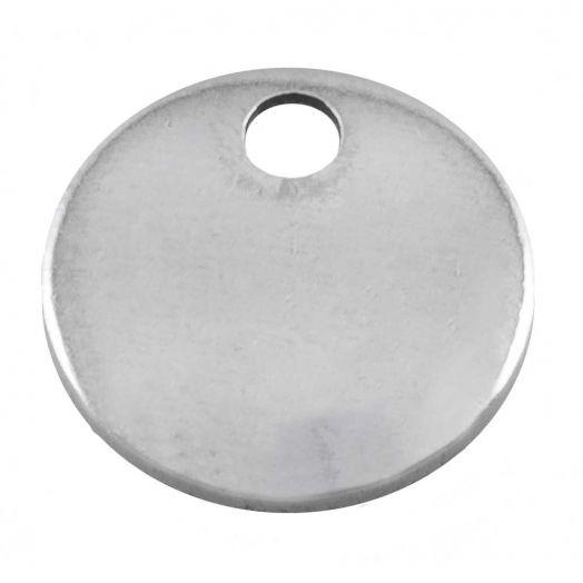 Stainless Steel Charm (10 mm) Altsilber (100 Stück)