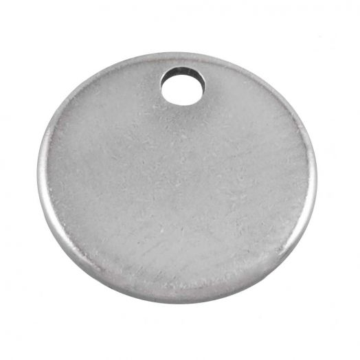 Stainless Steel Charm (8 mm) Altsilber (100 Stück)