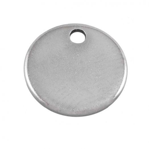 Stainless Steel Charm (7 mm) Altsilber (100 Stück)