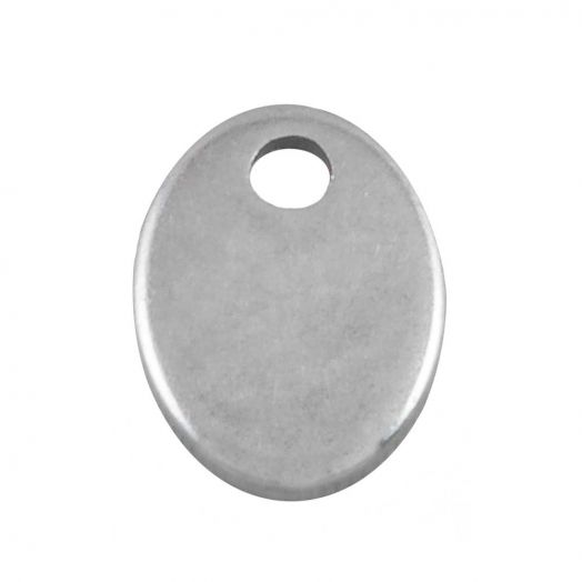 Stainless Steel Charm (7 x 5mm) Altsilber (100 Stück)