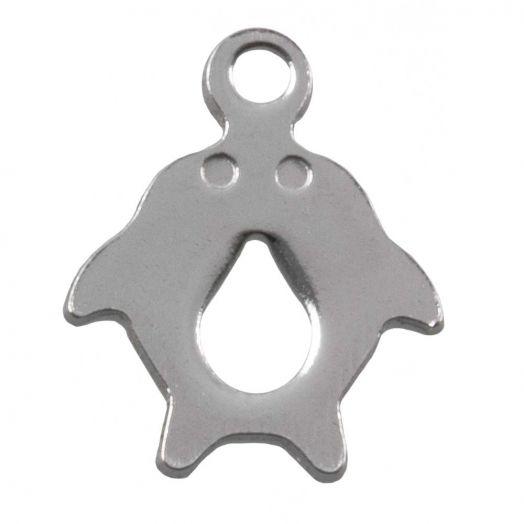 Stainless Steel Charm Delphin (12.5 x 10 mm) Altsilber (50 Stück)