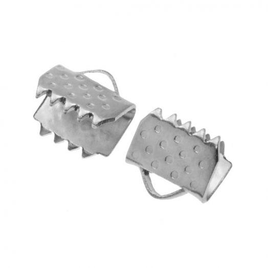Stainless Steel Bandklemme (5 mm) Altsilber (20 Stück)