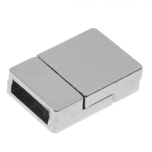 Magnetverschluss (Innenmaß 10 x 3 mm) Altsilber (1 Stück)