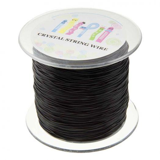 Topqualität Elastikfaden (0.8 mm) 130 Meter (Black)