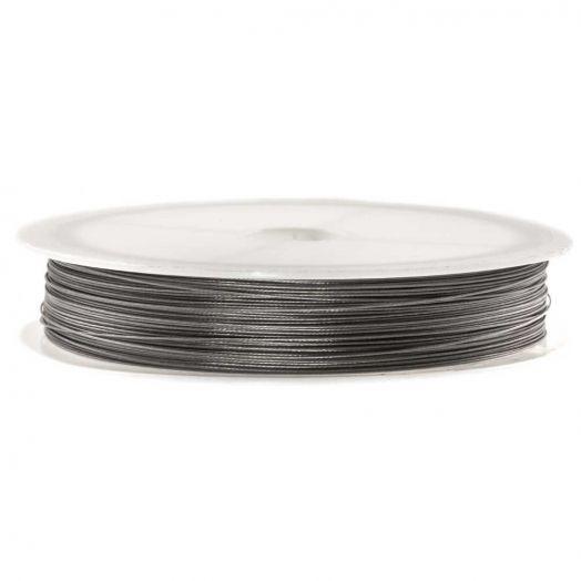 Stahldraht (0.38 mm) Silber (60 Meter)