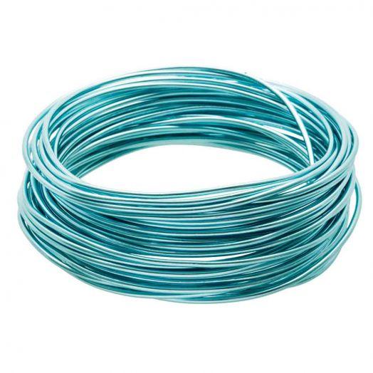 Alu Schmuckdraht (2 mm) Aqua Blue (10 Meter)