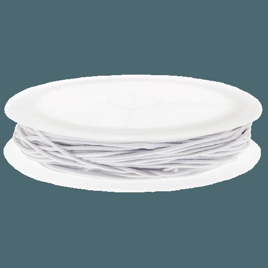 Elastikfaden (1,5 mm) White (6,3 Meter)