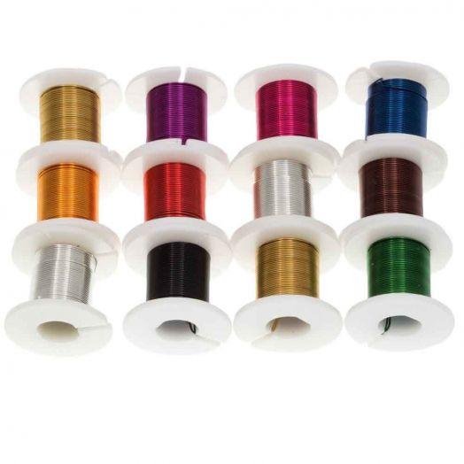 Kupferdraht (0.40 mm) Mix Color (12 x 2.75 Meter)