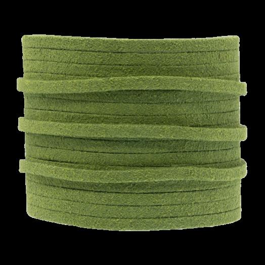 Kunst Wildlederband (3 mm / 1.5 mm) Parrot Green (5 Meter)