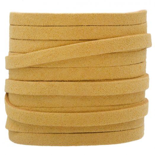Kunst Wildlederband (5 mm / 1.5 mm) Gold Sand (5 Meter)