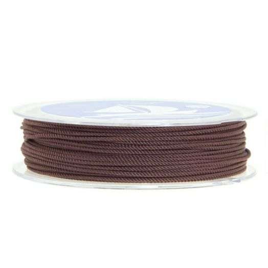 Gedrehte Nylonschnur (1 mm) Chocolate Brown (15 Meter)