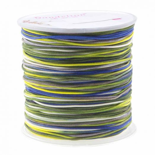 Nylonschnur (1 mm) Mix Color - Navy Yellow (100 Meter)