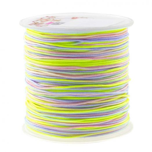 Nylonschnur (1 mm) Mix Color - Neon (100 Meter)