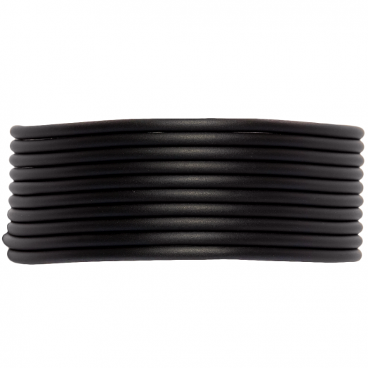 Gummiband hohl (2 mm) Black (5 Meter)