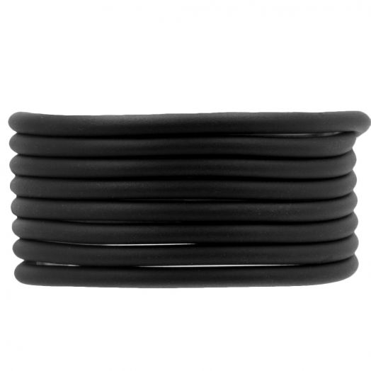Gummiband hohl (4 mm) Black (5 Meter)