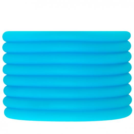 Gummiband hohl (5 mm) Sky Blue (2 Meter)