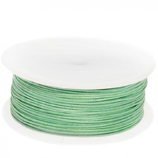 Wachsschnur Baumwolle (ca. 0.5 mm) Bright Mint Green (100 Meter)