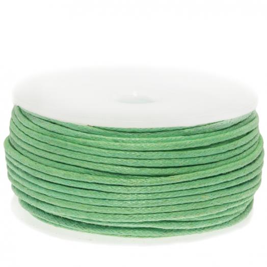 Wachsschnur Baumwolle (ca. 1.5 mm) Bright Mint Green (25 Meter)