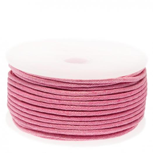 Wachsschnur Baumwolle (ca. 1.5 mm) Pink (25 Meter)
