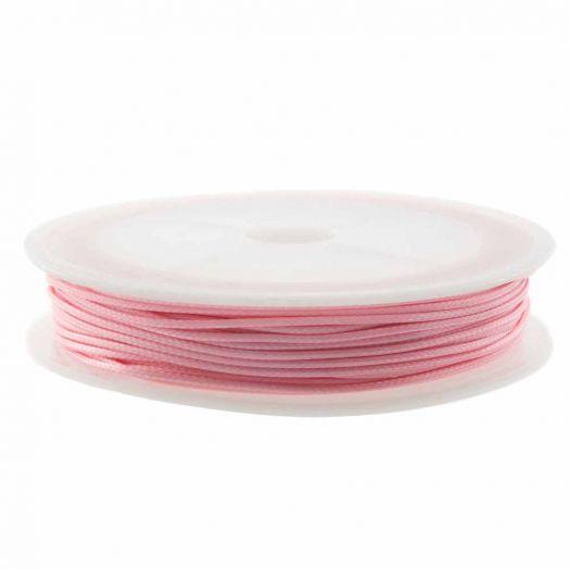 Wachsschnur (0.5 mm) Baby Pink (25 Meter)