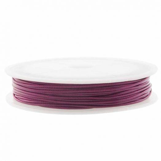 Wachsschnur (1 mm) Mulberry Purple (15 Meter)