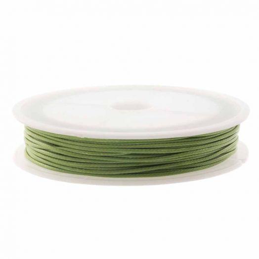 Wachsschnur (1.5 mm) Moss Green (10 Meter)