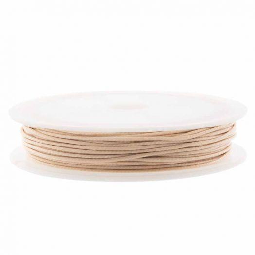 Wachsschnur (0.5 mm) Nude (25 Meter)
