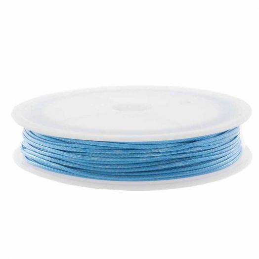 Wachsschnur (1 mm) Sky Blue (15 Meter)
