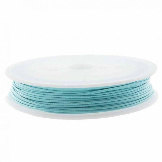 Wachsschnur (0.5 mm) Aqua Blue (25 Meter)