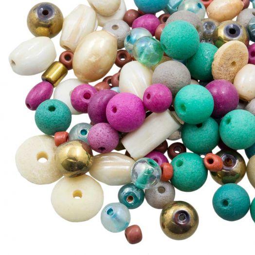Perlenmischung - Verschiedene (verschiedene Größen) Trendy (50 Gramm)