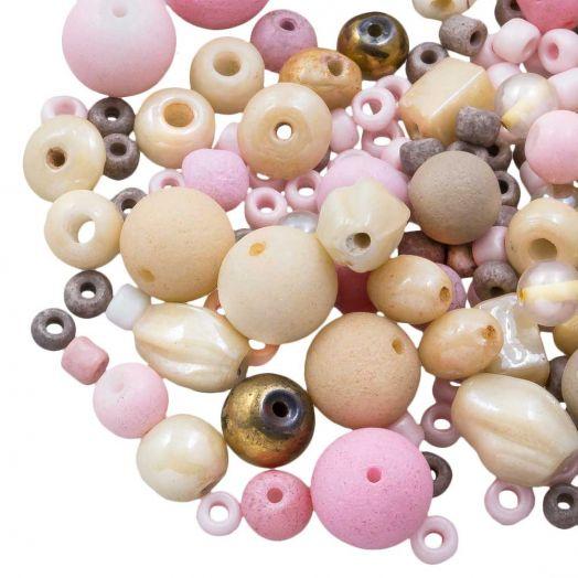 Perlenmischung - Verschiedene (verschiedene Größen) Candy Pink (50 Gramm)